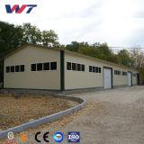 Edificio de acero pre dirigido doble del almacén de la estructura de la cuesta