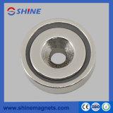 Potenciômetro de 60mm de diâmetro magneto com orifício escareado para Indústria de pré-fabricados