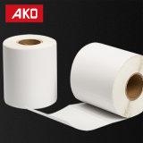 Papier couché OEM papier cristal semi auto adhésif autocollant de chemise de l'étiquette