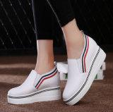 Designs mais recentes de mulheres calçado de couro Calçado de plataforma (FTS1019-34)