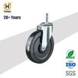 Industrie 20+Years TPE 5 Zoll-Verlegenheits-Oberseite-Platten-Fußrollen-Rad-Eingabe 80kg