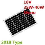 mono painéis solares de 18V 35W-40W para o sistema 12V (2018)