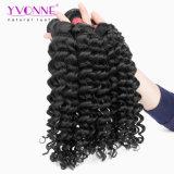 Tessuto profondo dei capelli umani dell'onda di Remy del Virgin brasiliano puro all'ingrosso di Yvonne