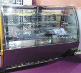 De gebogen Deur van het Glas met de Showcase van Baekry van 3 Plank voor de Vertoning van de Cake in Geschikte Winkel