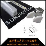 중국 제조자 IP65는 거치된 LED 지구 구석을%s 알루미늄 LED 단면도를 방수 처리한다