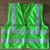 Maglia riflettente lavorata a maglia del tessuto con il LED verde