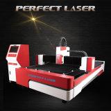 Machine en laiton de coupure en métal de laser de fibre de fabrication de tôle avec du ce