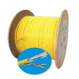 Cable de la comunicación de la potencia del cable de la red de la fábrica Cat5 UTP del OEM con color gris