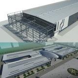 Prefabricated 가벼운 강철 구조물 창고 헛간