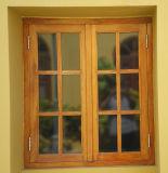 Finestra di legno solida francese di vetratura doppia di stile