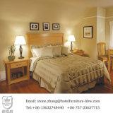 Mobilia solida dell'insieme di camera da letto dell'hotel di legno di pino di colore della natura