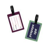 Markering van de Zak van de Markering van de Bagage van het Silicone van pvc van de douane 3D Zachte Rubber