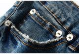 La frange de laine Hand-Stitched de broderie de qualité des jeans maigres de glands