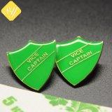 precio de fábrica de buena calidad de esmalte Metal Duro Souvenir personalizado insignia de Sheriff