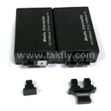 Mini 100m SC Duplex de fibra óptica simple Mini Media Converter.