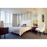 Design em madeira Cama King size Quarto moderno hotel de mobiliário (S-04)