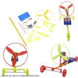 風力の手段車の倍によってはハンドメイド科学DIYのおもちゃの教育のおもちゃが飛ぶ