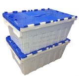 Tapa de plástico apilables contenedores Transporte De Alimentos bandejas de plástico bolsa de plástico de verificación Tss-Tbx604026V