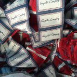 Personalizada alta de tela Denim principal Etiquetas ropa etiquetas tejidas