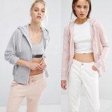 La conception personnalisée Zipper Sports Hoodies pour les femmes