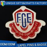Nome do emblema do metal da fonte da fábrica do OEM impresso