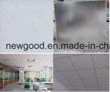Azulejos de teto, telhas de gesso, telhas de teto de gesso com laminado de PVC, teto de gesso revestido de vinil