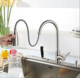 Grifería para lavabo PVD de níquel cepillado