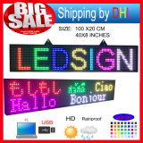 P10 RGB LED Scrolling Message affiché Board / Outdoor pleine couleur LED Display / Soutien informatique USB Programmablefor LED Signs