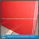 人工的な赤い水晶石のカウンタートップかWorktopsの水晶平板