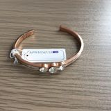 Mehrschichtiges Metallarmband/-armband mit Gewinde-hängenden Form-Schmucksachen