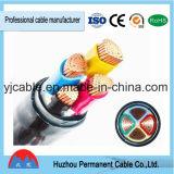 Bajo cable de transmisión subterráneo aislado XLPE de la base de cobre de la tensión 0.6/1kv