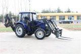 Good Sales 4WD 50HP China Traktor com carregador frontal e retroescavadora