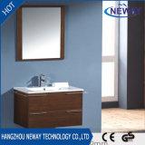 Vanité de salle de bain simple mélamine de qualité avec miroir