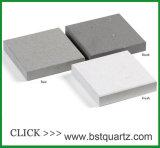 Dessus en pierre artificiel concret de cuisine de pierre de quartz