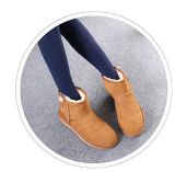 Moda nieve Sheepskin botas tobillo para damas