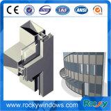 6063 T5 con revestimiento en polvo personalizada y el marco de la ventana de aluminio anodizado