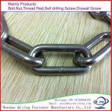 Catena d'acciaio saldata galvanizzata/collegamento a catena corta/lungamente catena a maglia