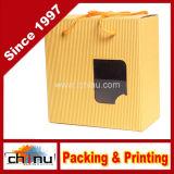 Коробка гофрированной бумага подарка упаковывая (120001)