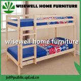 Base de beliche do dormitório contínuo da madeira de pinho única (W-B-0050)