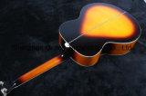 Guitarra acústica superior sólida del arce de la llama del tigre de los instrumentos musicales (J200)