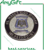 médaille 3D avec l'électrodéposition en laiton douce d'émail et d'antiquité