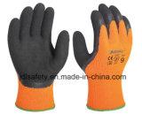 Песчаная Латексные перчатки работы с покрытием для обеспечения безопасности работы (LT2041)