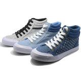 Nuevos zapatos clásicos de los hombres del ocio de la alta calidad de Vulcanization de la lona de la albahaca