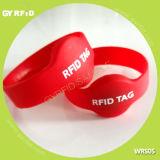水公園(GYRFID)のためのWrs05 Ntag216 ISO14443A RFIDのケイ素のリスト・ストラップ