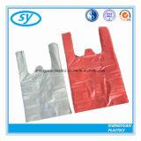 Sac à provisions en plastique estampé coloré fait sur commande de main