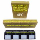4pack太陽動力を与えられたPIRの動きセンサーの壁ライト(RS2003-8-4)