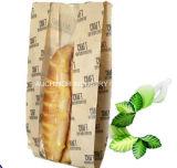 Levántate Non-Toxic de alta calidad Papel Kraft bolsas de pan con la ventana