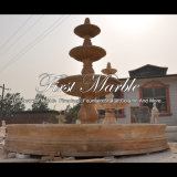 Fontaine à sable jaune de granit pour les meubles Mf-1286 de jardin
