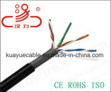 Doppio cavo esterno dell'audio del connettore di cavo di comunicazione di cavo di dati del cavo del rivestimento/calcolatore di UTP Cat5e