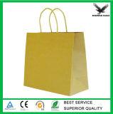 La impresión personalizada Brown de fast food Las bolsas de papel con asas Wholesale